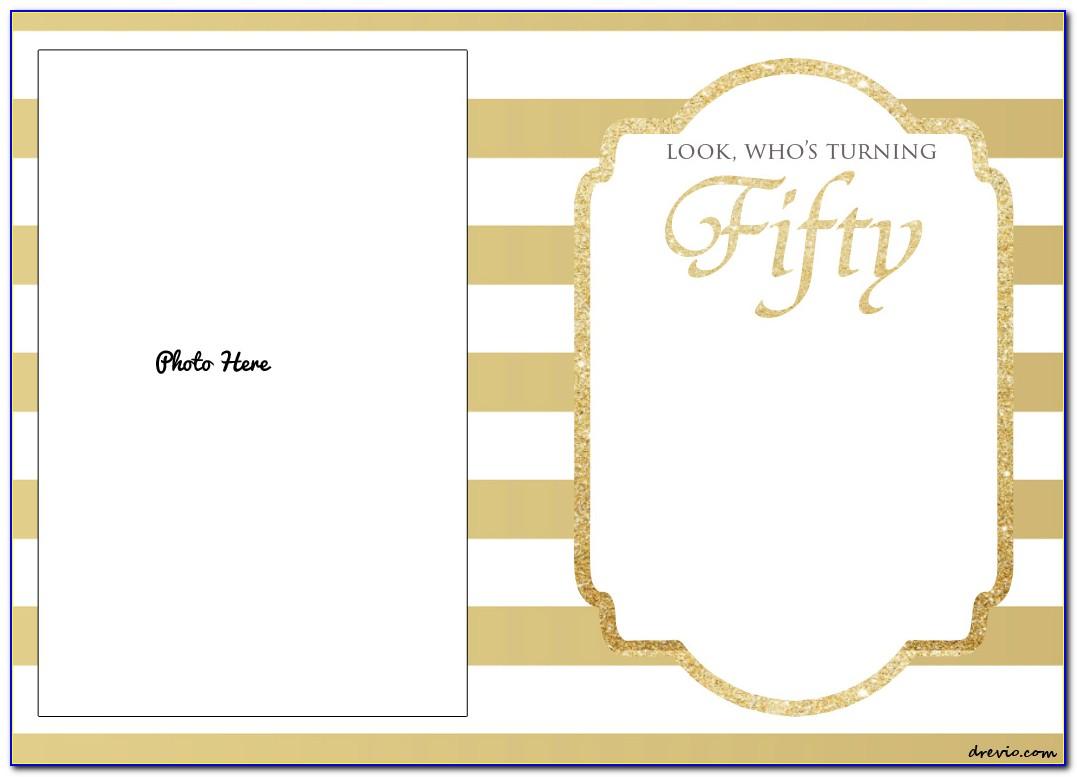 50th Birthday Invitation Templates Free Printable