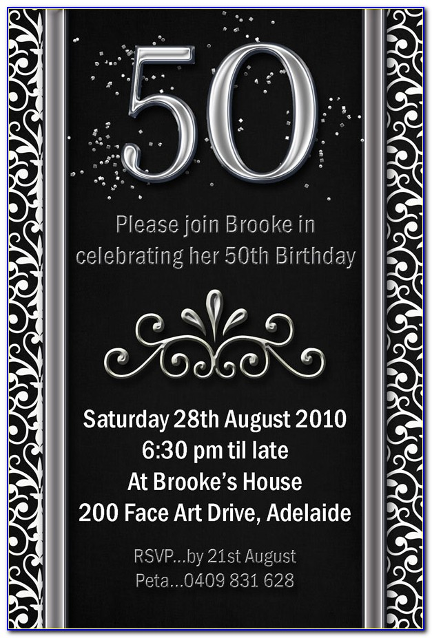 50th Birthday Invite Free
