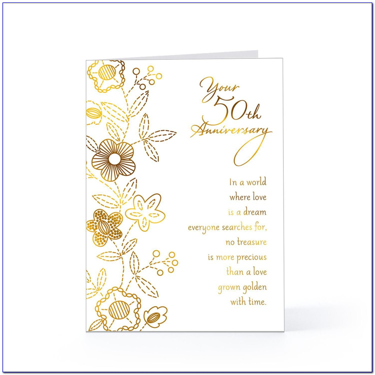 50th Golden Wedding Anniversary Invitation Template