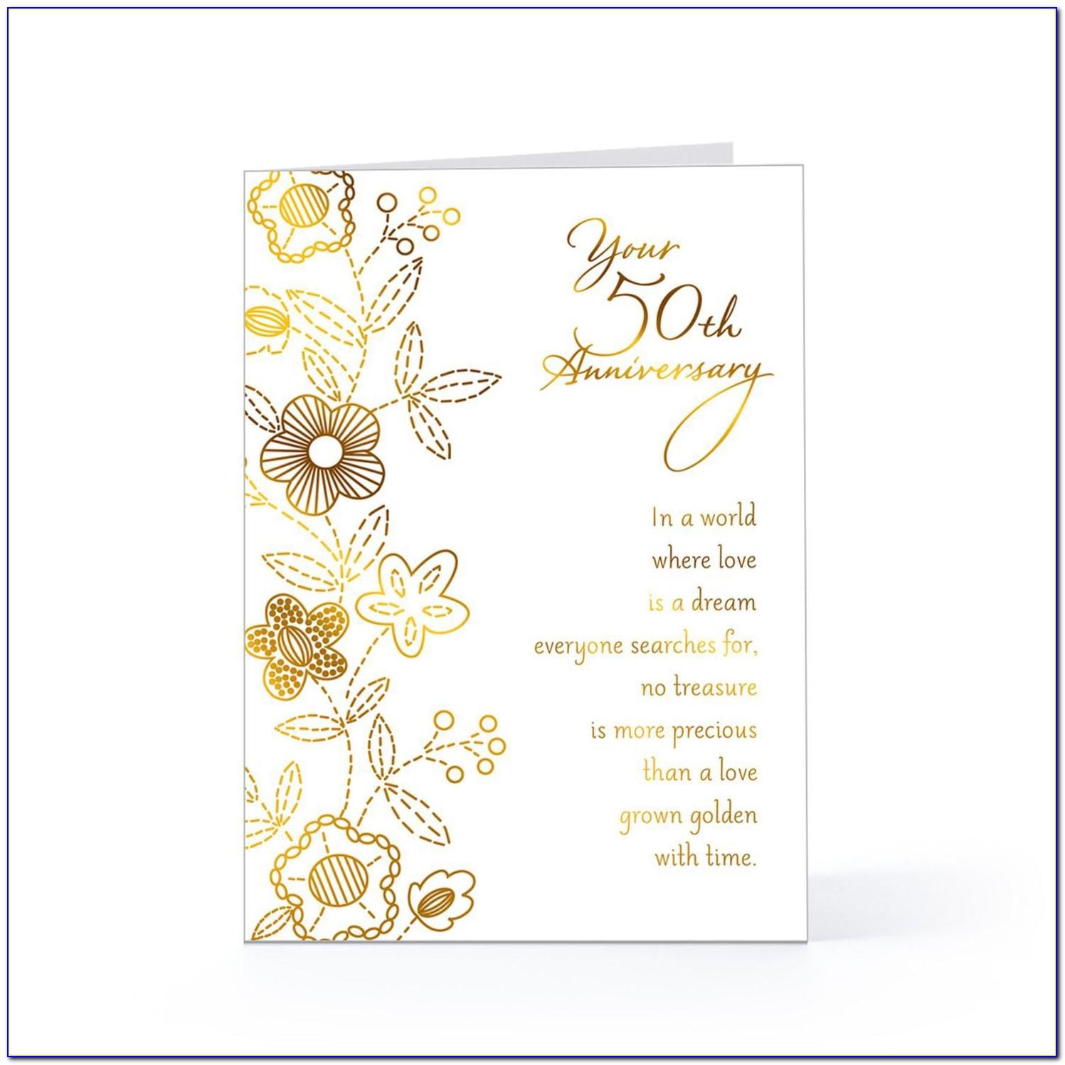 50th Golden Wedding Anniversary Invitation Template