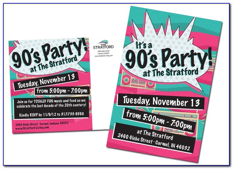 90s Birthday Invitation Templates