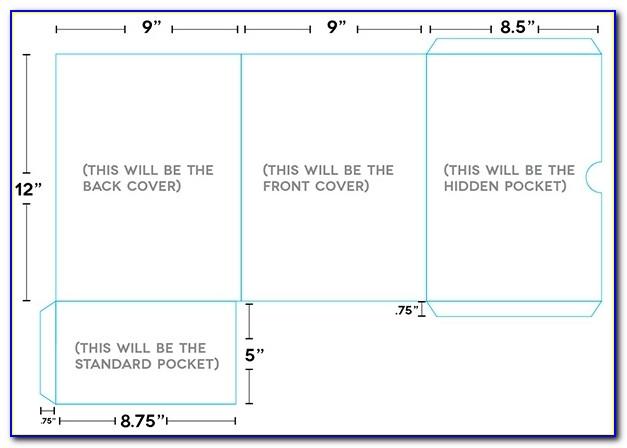 Design A Custom, Print Ready Pocket Folder In Adobe Indesign In A4 Presentation Folder Template Illustrator