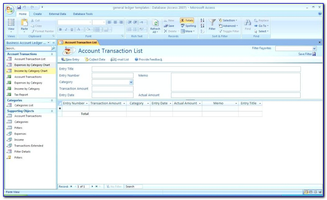 Access Inventory Database Template 2010