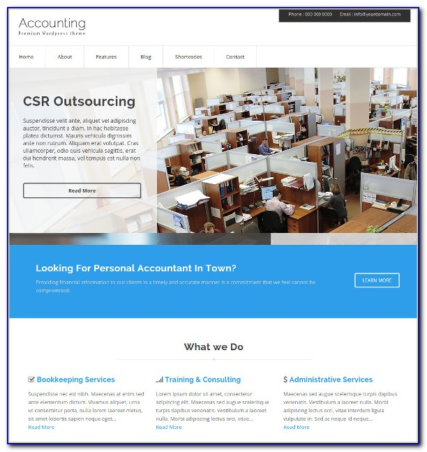 Accounting Website Templates Wordpress Free