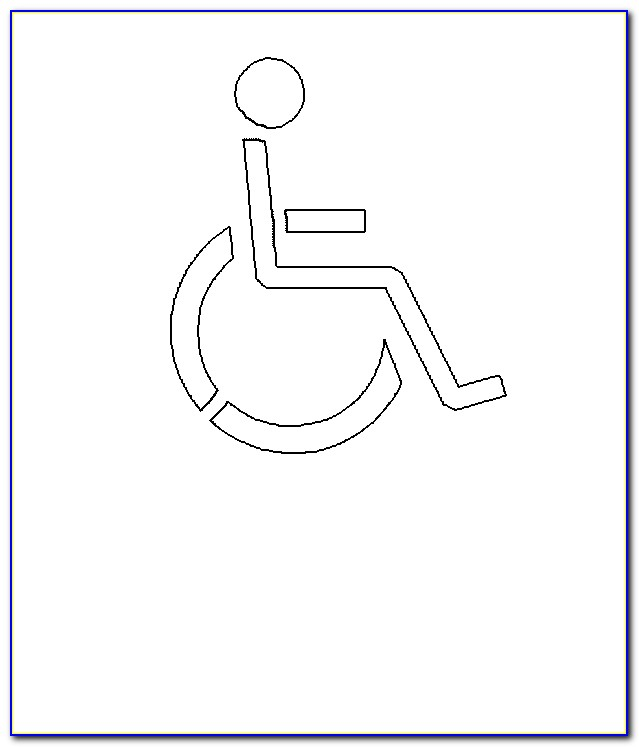 Ada Handicap Parking Template