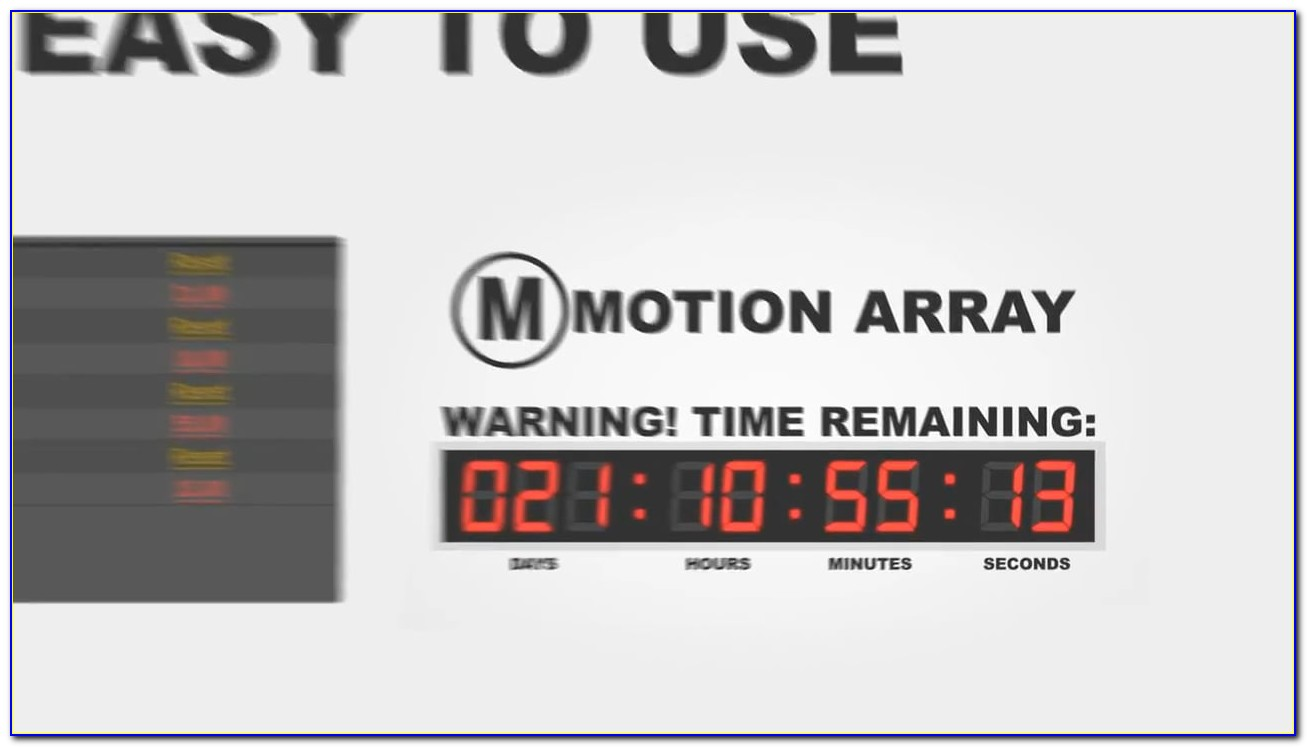 Adobe After Effects Countdown Timer Template