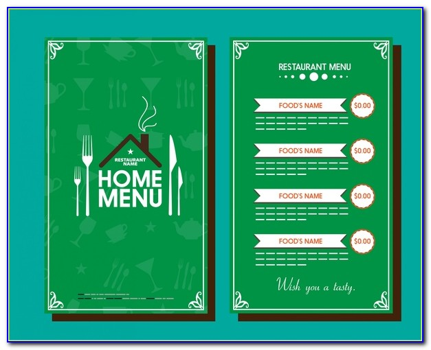 Adobe Illustrator Restaurant Menu Template