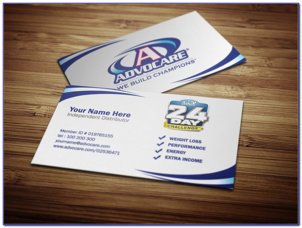 Advocare Business Cards Template