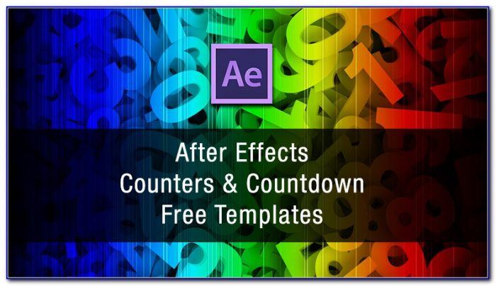 After Effects Countdown Timer Template Free