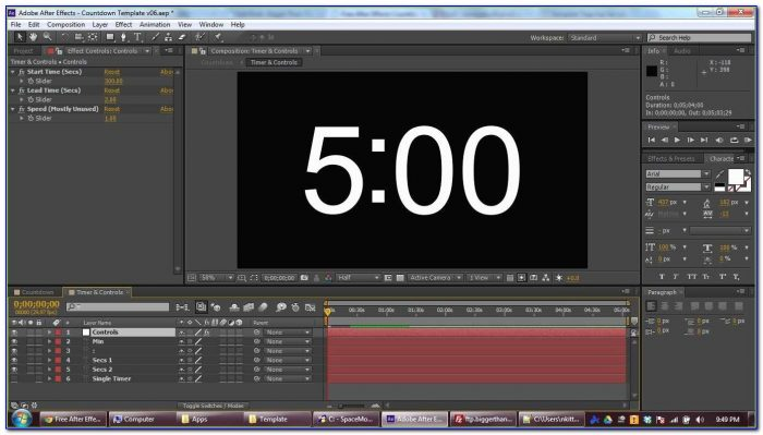 After Effects Countdown Template Staggering Free After Effects Countdown Template & Tutorial