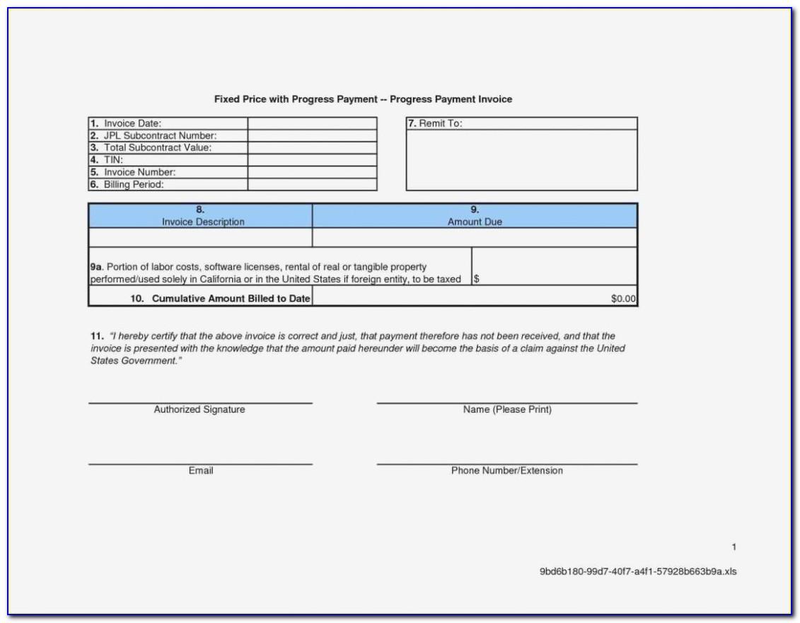 Aia Invoice Form Template