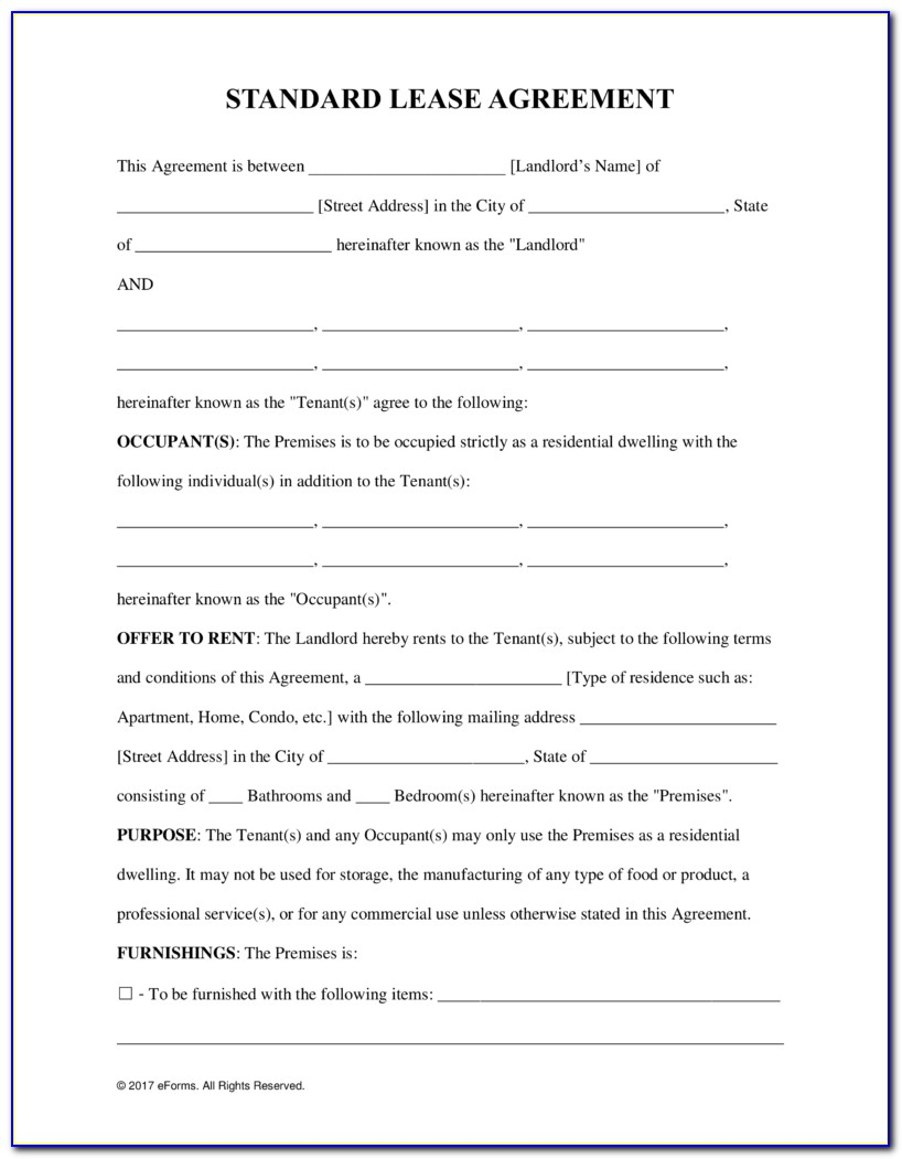 Free Rental Lease Agreement Templates Residential & Commercial In Free Printable Rental Agreements