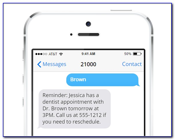 Appointment Reminder Sms Template