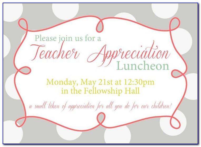 Appreciation Lunch Invitation Template