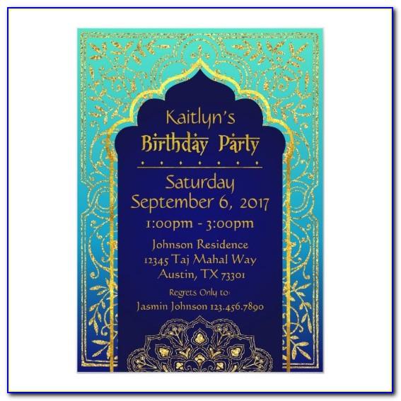 Arabian Nights Invitation Template Free