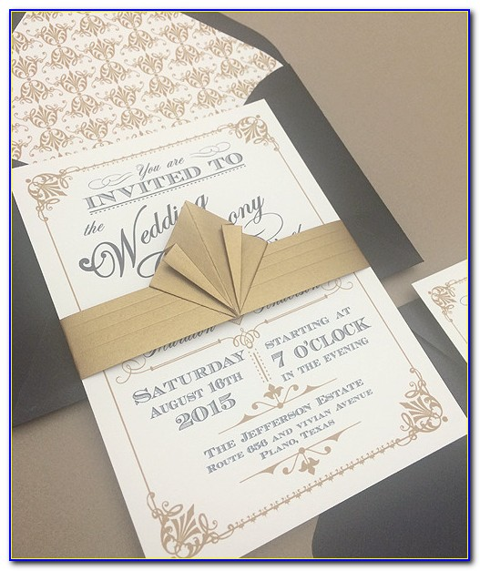 Art Deco Wedding Invitation Templates Free Download