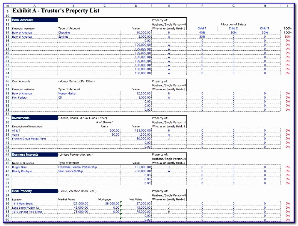 Inventory Tracking Template Excel Uarkg Elegant Probate Spreadsheet