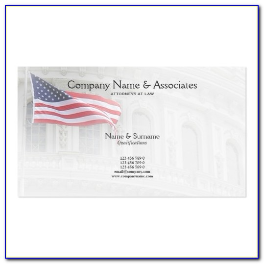 Attorney Business Cards Templates Free