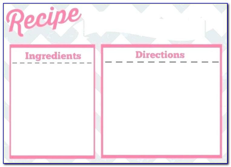 Avery 3381 Recipe Card Template