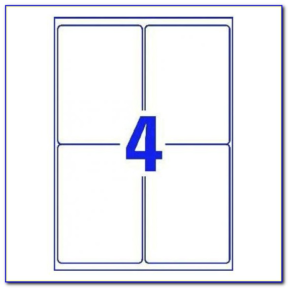 Avery 4x4 Label Template
