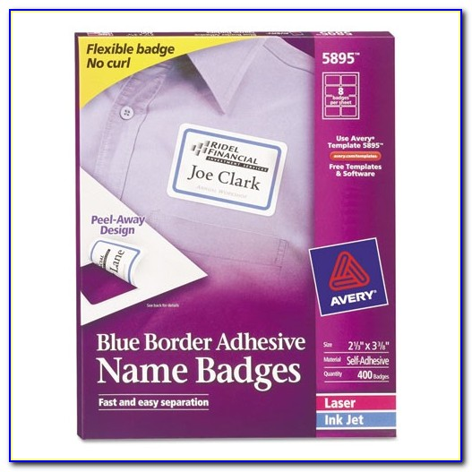 Avery 3x3 Label Template Bettymills Avery Blue Border Removable Adhesive Name