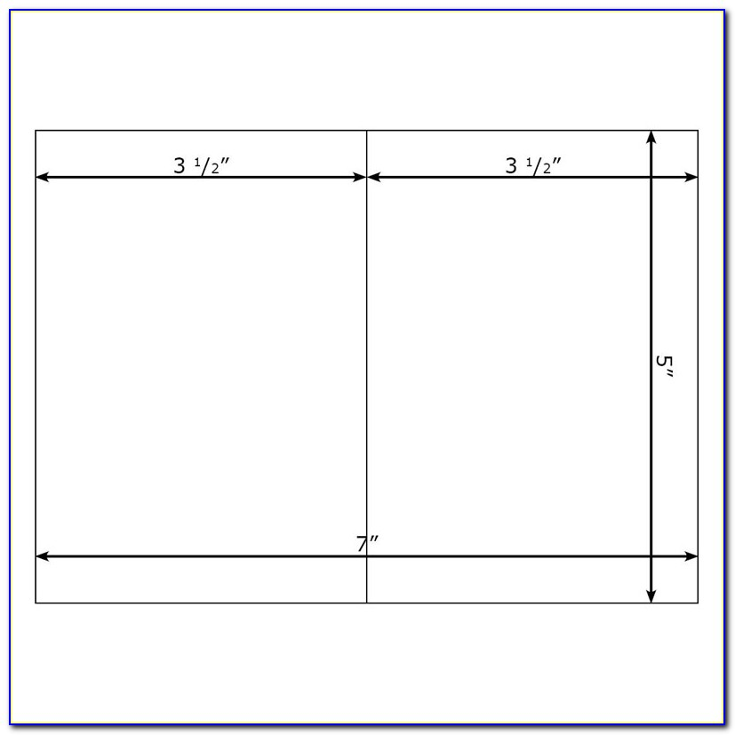 Avery 5x7 Envelope Template
