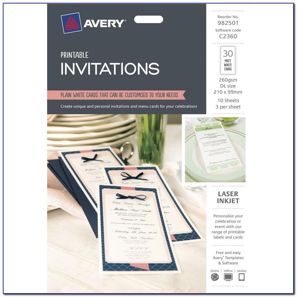 Avery Christmas Invitation Templates