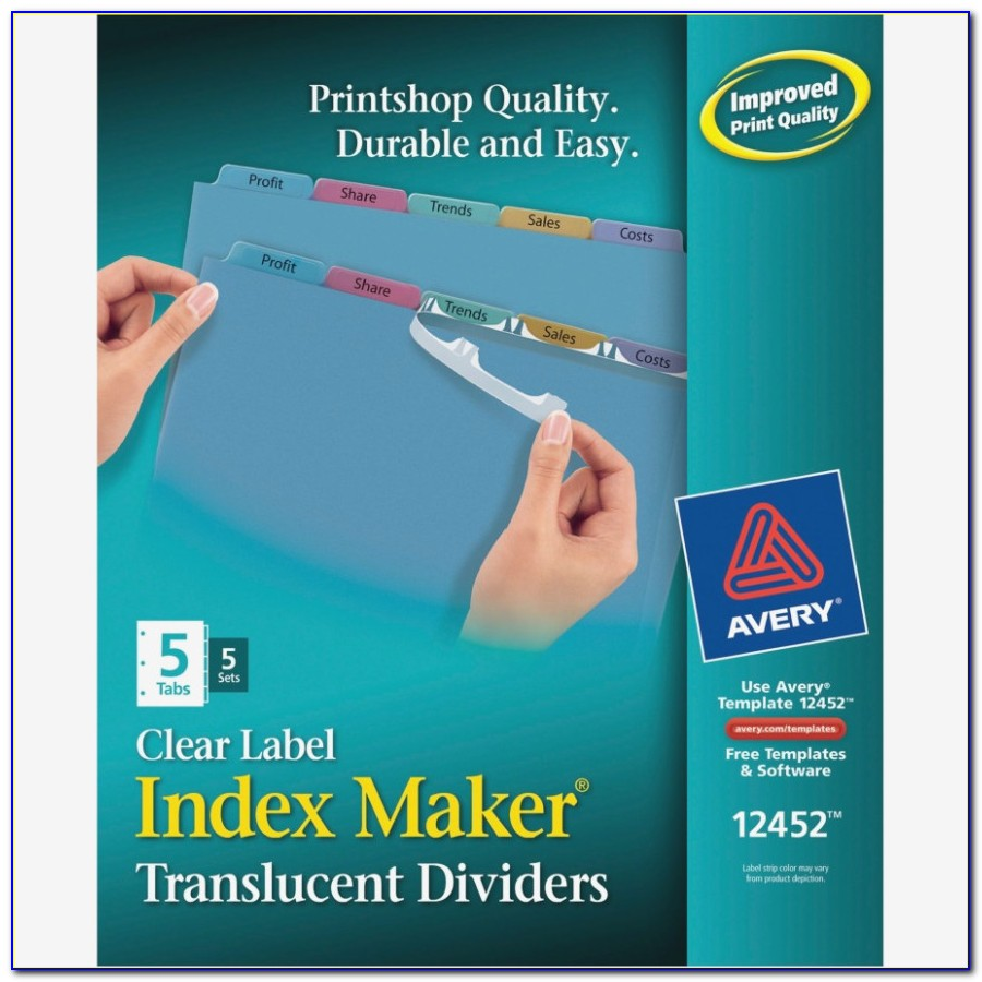 Avery Easy Apply Label Strips Template 5 Tab