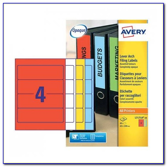 Avery Filing Labels Template 5266