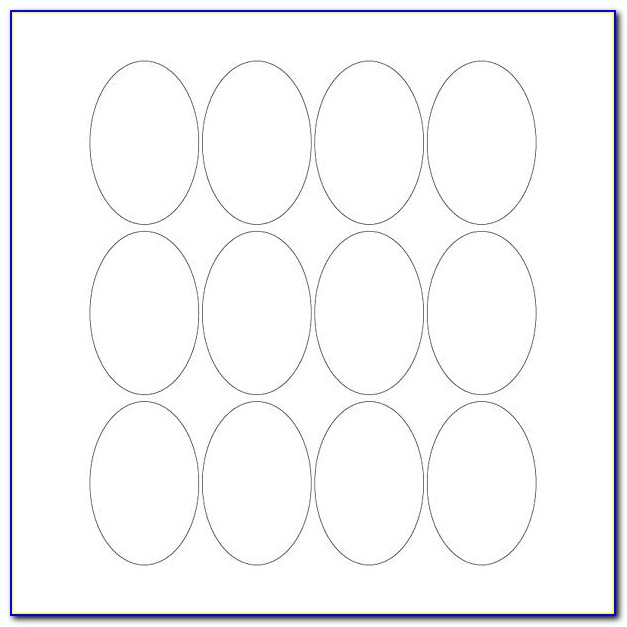 Avery Oval Sticker Template