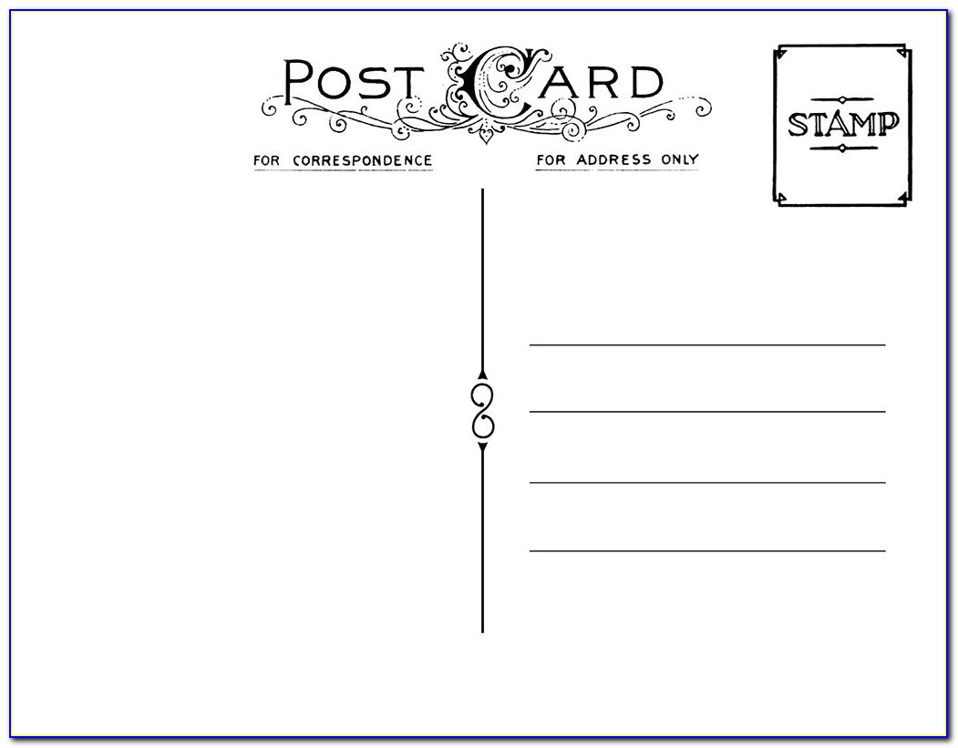 Avery Postcard Template 3380