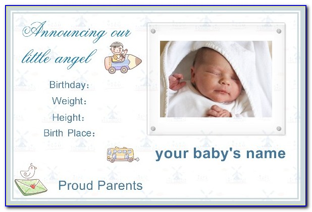 Baby Birth Announcement Template Free Download