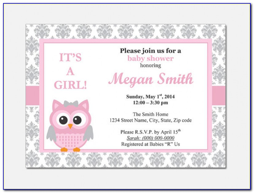 Baby Shower Email Invitation Templates | Ctsfashion