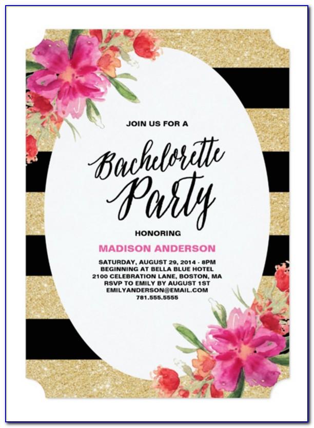 Bachelorette Invitation Templates Free Download