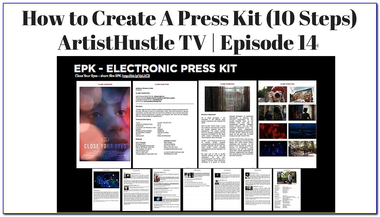 Band Electronic Press Kit Template