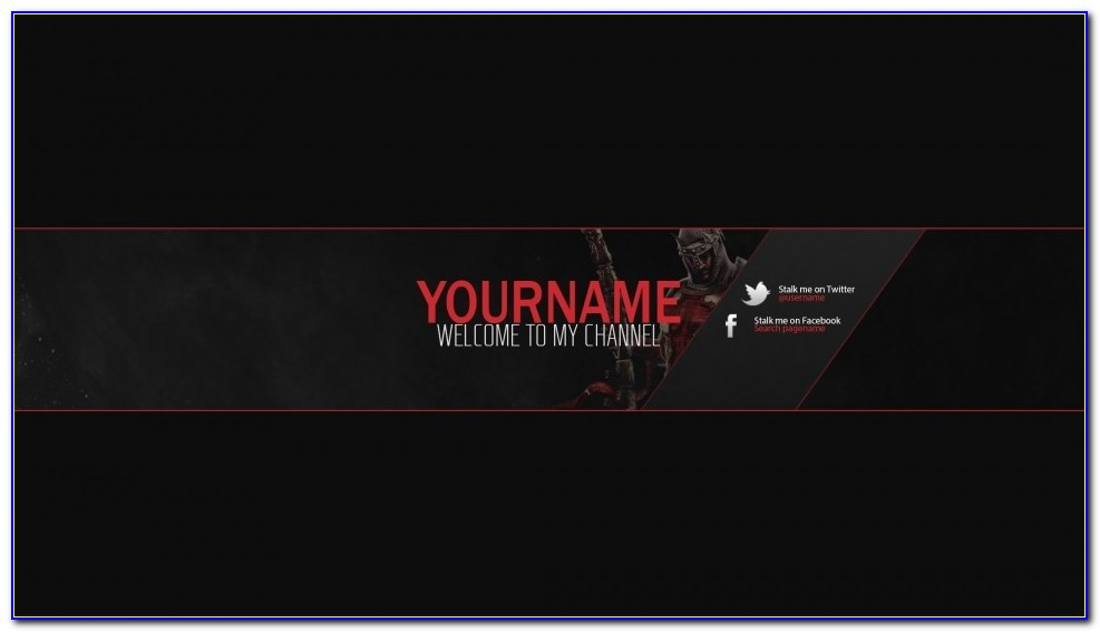 Youtube Banner Template Psd E Commercewordpress