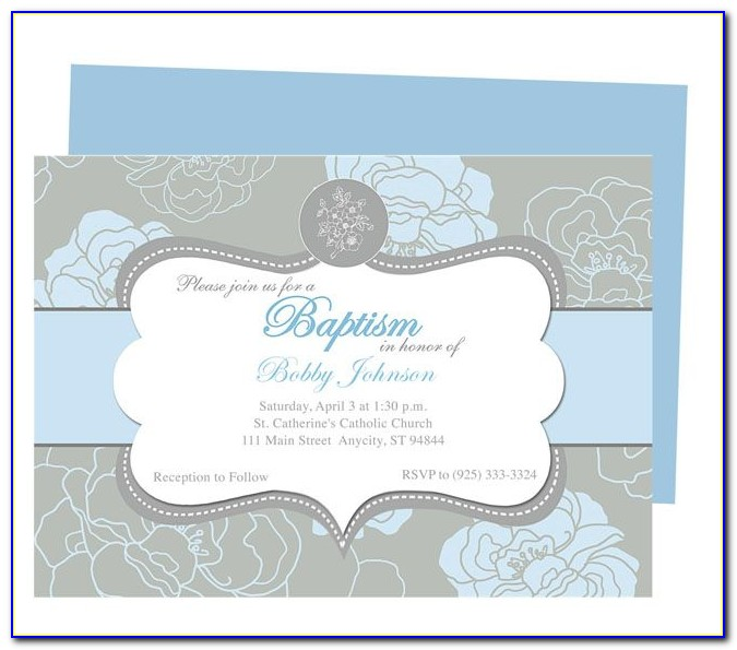 Baptism Invitation Template Microsoft Word Free