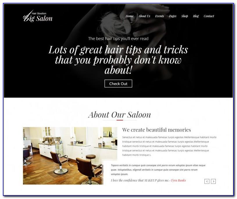 Barber Shop Website Template Free Download