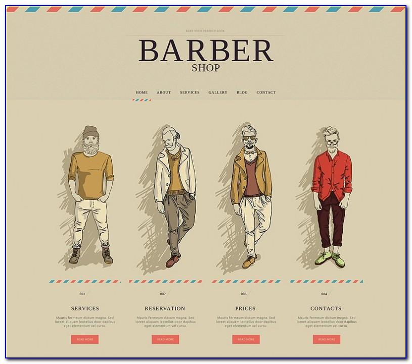 Barber Shop Website Templates Free