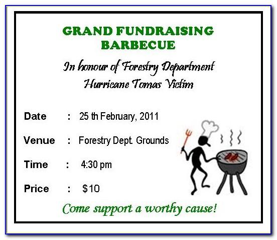 Bbq Fundraiser Ticket Templates