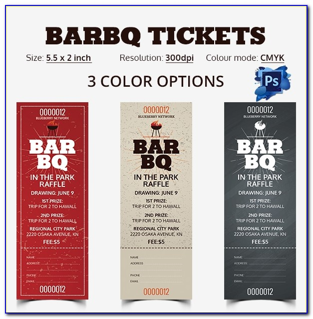 Bbq Tickets Template Word