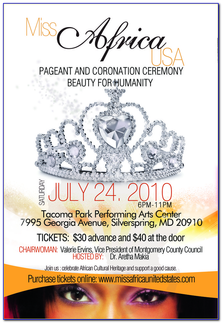Beauty Pageant Flyer Templates Free