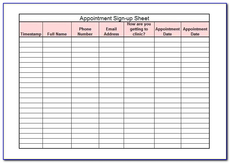 Beauty Salon Appointment Book Template