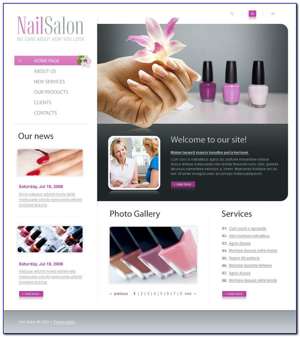 Beauty Salon Website Templates Free Download