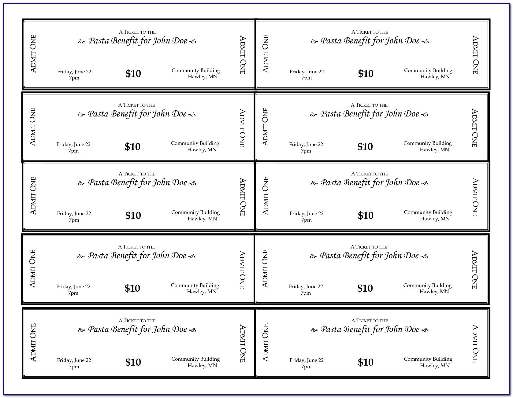Benefit Concert Ticket Template