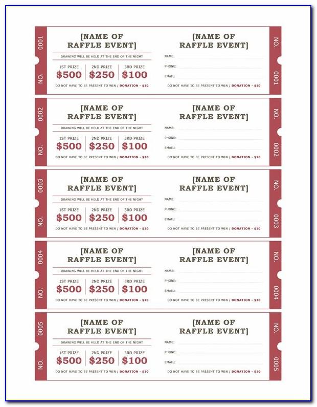 Benefit Dance Ticket Templates