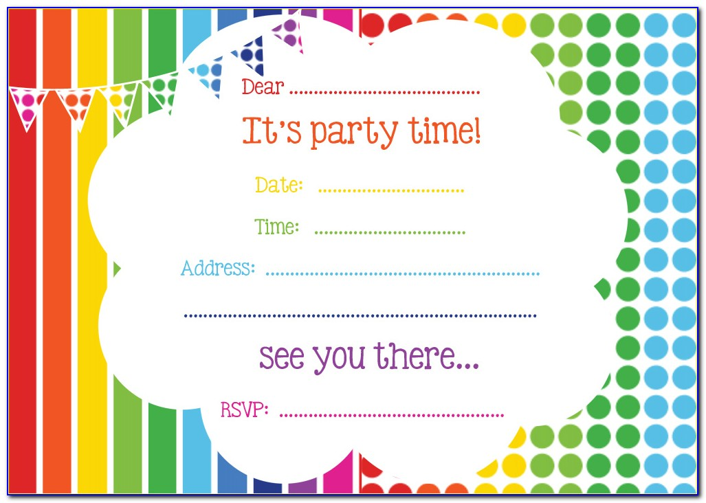 Birthday Invitation Templates Printable Free