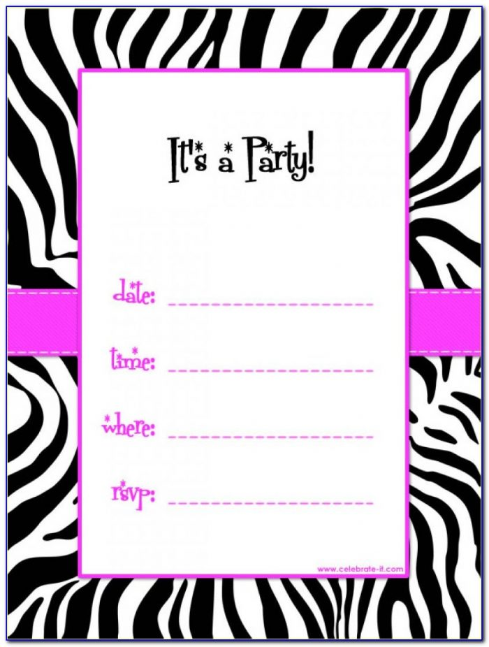 Birthday Invitation Templates To Print Free