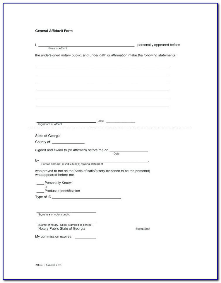 Blank Affidavit Template South Africa