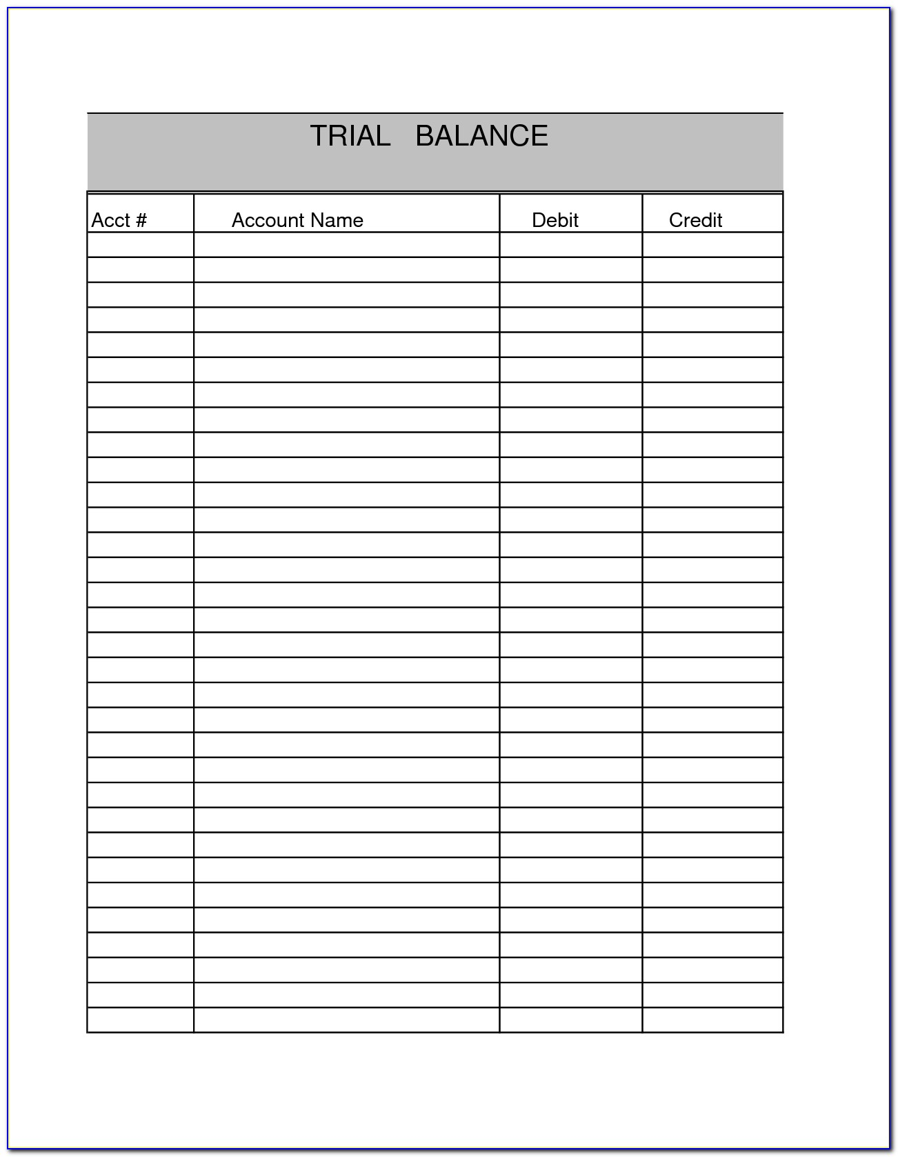Blank Balance Sheet Example